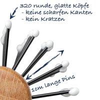 Rundbürste mit Frisierpins Ø 35mm aus Buchenholz